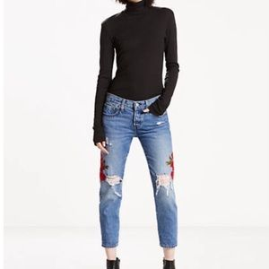 Anthropologie Levi's tapered 501 distressed jeans